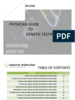 Physician Guide to Genetic Testing