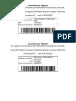 Constancia de Registro FONAVI TITO ELENA