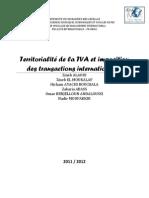 1Territorialité de la TVA et imposition des transactions internationales