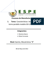 Informe de Procesos de Manufactura