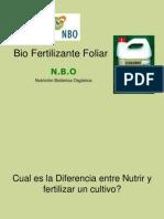 Biofertilizantes foliares