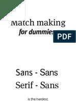 Match Making Fonto