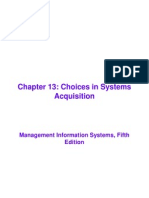 Chapter 13 - Choices in Systems Acquistion