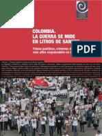 Fidh - Colombia, La Guerra Se Mide en Litros de Sangre
