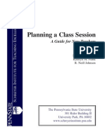 Planning a Class Session