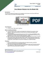D40301 Installing the CDPD Enfora Modem Module Into the Mode