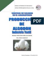 Produccion de Algodon