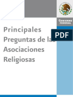Principales Preguntas Asociaciones Religiosas Mx