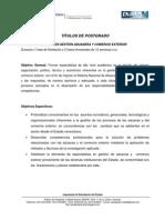 Plan de Estudios de Aduanas y Comercio Exterior