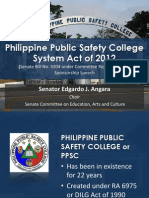 Philippine Public Safety College System Act of 2012 Visual Presentation by Senator Edgardo J. Angara