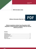 Offshore Installations (Safety Case) Regulations 2005 [PDF 181KB]