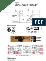 Projeto Microfone Condenser Phanton 48V Projeto Completo - II