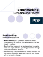 Operations Management - Benchmarking