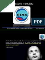 NIMS Franchisee Proposal