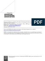 1990 Experience Effects in Auditing- The Role of Task-Specific Knowledge