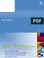 Best Practices - OBIEE