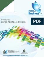 Honduras un Pais Abierto a la Inversión