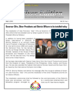 Compilation of District Governor's Monthly Letters July 2011 to April 2012