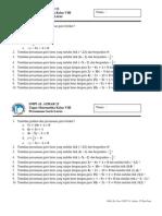 Tugas Persamaan Garis Kelas VIII