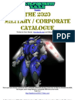 Cyberpunk 2020 - Datafortress 2020 - Corporate-Military Catalog