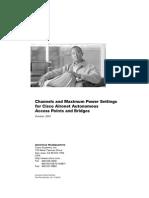 Channels and Maximum Power Settings for Cisco Aironet Autonomous Access Points and Bridges