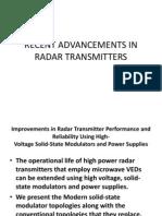 Recent Advancements in Radar Transmitters