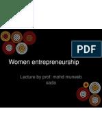 Women Entrepreneurship2012