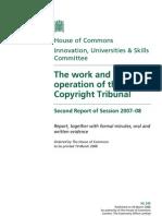 UK Copyright Tribunal - Parliamentary Report