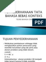 Penyederhanaan Tata Bahasa Bebas Konteks1
