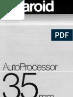 35 Mm Auto Processor User