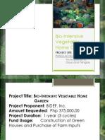 Bio-Intensive Vegetable Home Garden