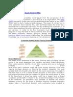 CBBE-Brand Equity Model