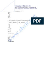 Mathematics Mcqs 11-20