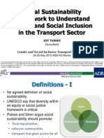 Social Sustainability Framework to Understand Gender and Social Inclusion in the Transport Sector