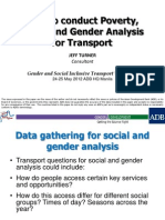 How to conduct Poverty, Social and Gender Analysis for Transport