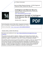 Congressional Oversight of Intelligence (is the Solution Part of the Problem)