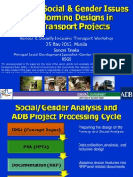 Analyzing Social & Gender Issues and Informing Designs in ADB Transport Projects