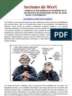 El catecismo de Wert Ánimo presidente y Las mentiras del PP amenazan a España