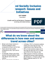 Gender and Socially Inclusive Urban Transport
