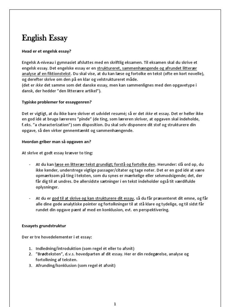 Essay oppbygging engelsk