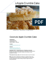Keikos Coconuts Apple Crumble Cake Recipe