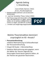 107 Lernkarten Stiehler - Agenda Setting