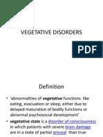 Vegetative Disorders