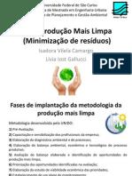 P+L - Minimização de resíduos