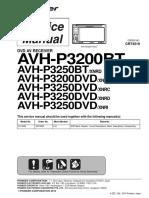 Avh-p3200bt, p3250bt, p3200dvd, p3250dvd