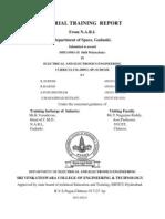 Industrial Training Report Certificate[1]