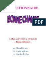 Questionnaire-la francophonie