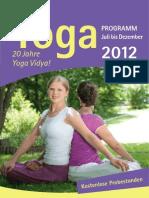 Yoga Vidya Abendkurse Juli bis Dezember 2012