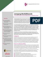 Factsheet Executive Leergang Bedrijfskunde SLB-Holland