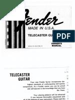 Telecaster Guitar 1981
